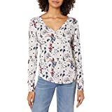 Lucky Brand Women's Allover Grey Printed Thermal Top, Multi