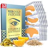 Under Eye and Forehead 24K Gold Patches - Anti-Aging Collagen Hyaluronic Acid Pads Helps Reducing Puffiness & Wrinkles & Dark
