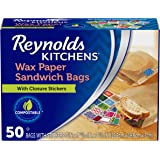 """Reynolds Kitchens Wax Paper Sandwich Bags - 6x7-13/16"""", 50 Count"""