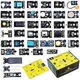 KEYESTUDIO 37個 モジュール センサー スターターキット for Arduino Raspberry Pi 4 アルドゥイーノ アルデュイーノ アルディーノ キット ラズベリーパイ 互換 初心者 子供と大人向け 電子工作 プログラミング
