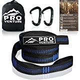 Pro Hammock Tree Straps with CARABINERS - 400LB Rated (1200LB Tested), Adjustable 30+2 Loops, Non-Stretch, Easy Setup, Heavy