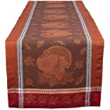 """DII Autumn Plaid Tabletoppers Fall Patterned Kitchen Linens, 14x108"""", Harvest Feast"""