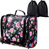 ELV Hanging Toiletry Bag - Large Travel Cosmetic Storage Organizer, Men & Women, for Makeup, Toiletries, Hygiene Accessories,