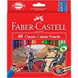 Faber-Castell Vibrant Classic Color Pencils, Assorted – Pack of 48, (16-115858)
