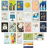 Hallmark Pack of 24 Handmade Assorted Boxed Greeting Cards, Herringbone Pattern—Birthday Cards, Baby Shower Cards, Wedding Ca