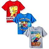 Daniel Tiger's Neighborhood Toddler Boys' Daniel 3 Pack Tee Shirts, Multi