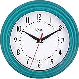 "Equity by La Crosse 25020 Analog Wall Clock 8"", Teal Blue"