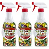 Veggie Wash All Natural Fruit and Vegetable Wash Sprayer, Pack of 3, 16-Ounce Each