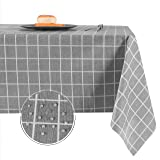 Obstal PVC Square Table Cloth, Oil-Proof Spill-Proof and Water Resistance Tablecloth, Decorative Fabric Table Cover for Outdo
