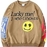 Kanye Hoodie Lucky Me I See Ghosts Hooded Hip Hop Sweatshirts
