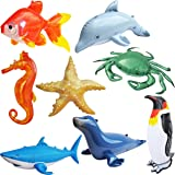 Inflatable Ocean Life Sea Underwater Assorted Bathtub Toys Educational 8Count- by Jet Creations An-Ocean8
