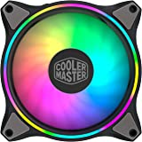 Cooler Master MasterFan MF120 Halo ARGB - Dual Ring Addressable RGB Lighting, Case and Cooling Hybrid Fan Blade Design with J