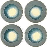 Main + Mesa Stoneware Reactive Glaze Coasters, Set of 4
