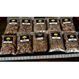 J.C.'s Smoking Wood Chips - Variety #1-10 Pk - #2 65 Cu Inch Quart Bags of Apple, Hickory, Wild Black Cherry & #1 65 Cu Inch