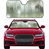 EcoNour Accordion Foldable Windshield Sunshade for Car | Blocks Harmful UV Rays | Foldable Windshield Sunshade Keeps Your Car