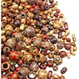 Assorted Wood Beads for Jewelry Making 500 pcs