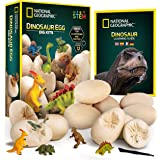 NATIONAL GEOGRAPHIC Dinosaur Dig Kit – 12 Dino Egg Shaped Dig Bricks with Dinosaur Figures Inside, Party Activity Comes with