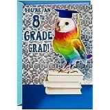 Hallmark 8th Grade Graduation Card (Rainbow Owl, Bright One)