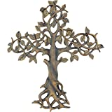 Old River Outdoors Large 41cm Tree of Life Wall Cross - Decorative Spiritual Art Sculpture Plaque