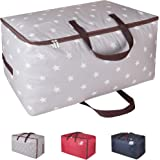 DOKEHOM DKA1011GY 100L Large Storage Bag (4 Colors), Fabric Clothes Bag, Thick Ultra Size Under Bed Storage, Moisture Proof (