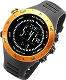 [ラドウェザー]ランニングウォッチ 心拍計 USB充電 速度計 歩数計 気圧計 高度計 コンパス アウトドア腕時計 スポ…
