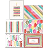 Watercolor Bulk Birthday Cards Assortment - 48pc Bulk Happy Birthday Card with Envelopes Box Set - Assorted Blank Birthday Ca