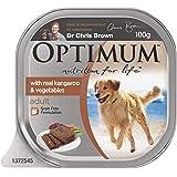 OPTIMUM Kangaroo and Vegies Wet Dog Food 100g Tray, 12 Pack