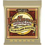 Ernie Ball P02069 Ernie Ball Earthwood 80/20 Bronze Folk Nylon Classic Ball End Acoustic Guitar Strings, 28-42 Gauge, NA