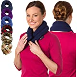 Sunny Bay Unscented Neck Heating Wrap, Heat Therapy Pad for Sore Neck, Back & Shoulder Muscle Pain Relief–Thermal, Reusable,
