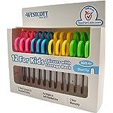 "Westcott School Left and Right Handed Kids Scissors, 5"" Blunt, Pack of 12, Assorted"