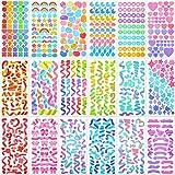 18 Sheets Colorful Letter Sticker Alphabet Self Adhesive Sticker Heart Ribbon Star Sticker Love Decorative Sticker Bulk DIY D