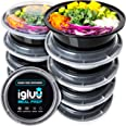 Round Plastic Meal Prep Containers - Reusable BPA Free Food Containers with Airtight Lids - Microwavable, Freezer and Dishwas