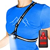 AVANTO Chest Running Light for Runners and Joggers with Adjustable Beam and Reflector, All in one Reflective Running Vest Gea