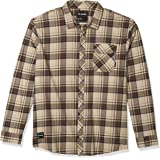 Fox Racing Mens 23890 Stretch Flannel Long Sleeves Button Down Shirt