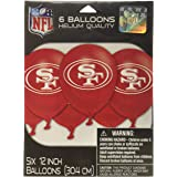 San Francisco 49ers Collection Printed Latex Balloons, Party Decoration
