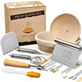 Bread Proofing Basket With Baking Tools - Sourdough Starter Kit With Bread Basket - Bread Proofing Baskets For Sourdough - Br