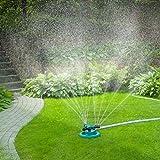 GOLDFLOWER Garden Sprinkler, Adjustable 360 Degree Rotation Lawn Sprinkler, Large Area Coverage, Multipurpose Yard Sprinklers