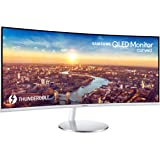"Samsung CJ791 34"" Thunderbolt 3 Ultra-Wide QHD (3440x1440) 100Hz Curved QLED Monitor (LC34J791WTNXZA)"
