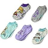 Disney Girls' Big Frozen 5 Pack No Show, Fits Sock Size 6-8.5 fits Shoe Size 7.5-3.5