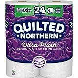 Quilted Northern Ultra Plush Toilet Paper, 6 Mega Rolls = 24 Regular Rolls, 3-ply Bath Tissue