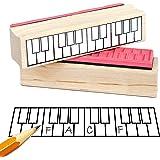 ピアノ 運指ゴムスタンプ (2オクターブ!)