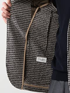 Houndstooth Cotton Polyester Jersey Jacket 1122-199-2493: Beige