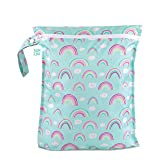 Bumkins Waterproof Wet Bag, Washable, Reusable for Travel, Beach, Pool, Stroller, Diapers, Dirty Gym Clothes, Wet Swimsuits,