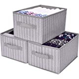 GRANNY SAYS Storage Baskets for Shelves, Cloth Organizer Bins with Handles, for Home Closet Bedroom Drawers Organizers, Mediu