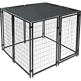 ALEKO PLK0515BK Feet Pet Dog Kennel Sun Shade Cover Weather Protection with Aluminum Grommets 5 x 15 Feet Black