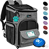 PetAmi Pet Carrier Backpack for Small Cats, Dogs, Puppies | Airline Approved | Ventilated, 4 Way Entry, Safety and Soft Cushi