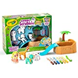 Crayola Scribble Scrubbie Safari Animals Tub Set, Color & Wash Creative Toy, Kids, Birthday Gift, Color & Clean Adorable Litt