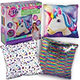 B Me Sequin Unicorn Pillow for Girls - Reversible Double Sided Rainbow Doodle Sequined Pillows - Bedroom Decor Art - Creative