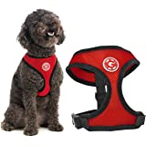 Gooby Soft Mesh Harness for Small Dogs, Medium, Red