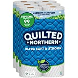 Quilted Northern Ultra Soft and Strong Earth-Friendly Toilet Paper, 24 Supreme Rolls = 99 Regular Rolls, 340 2-Ply Sheets Per